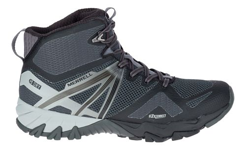 Mens Merrell MQM Flex Mid Waterproof Hiking Shoe - Black 12