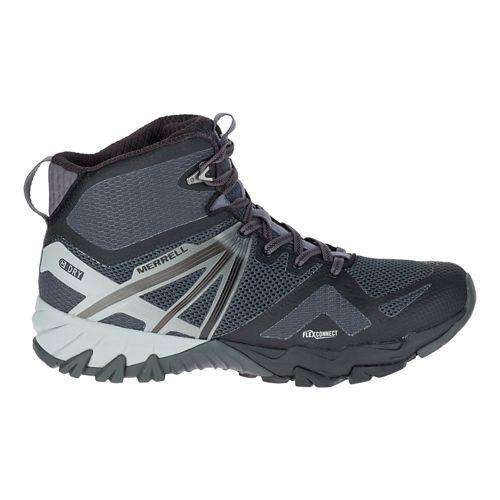 Mens Merrell MQM Flex Mid Waterproof Hiking Shoe - Black 10