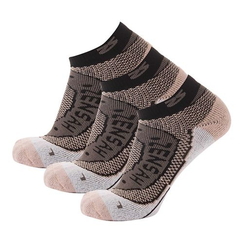 Zensah Copper Running 3 Pack Socks - Slate M