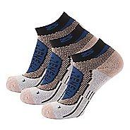 Zensah Copper Running 3 Pack Socks - Navy S