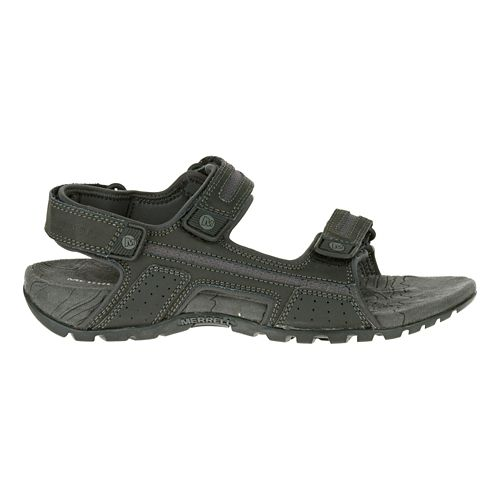 Mens Merrell Sandspur Oak Sandals Shoe - Black/Granite 14