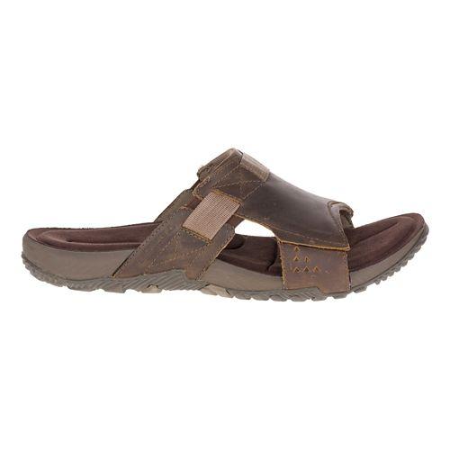 Mens Merrell Terrant Slide Sandals Shoe - Brindle 13