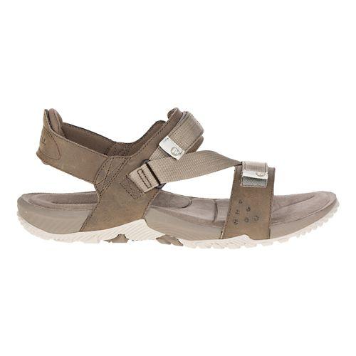 Mens Merrell Terrant Strap Sandals Shoe - Brindle 13
