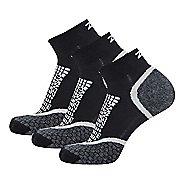 Zensah Grit Ankle Running 3 Pack Socks - Black L