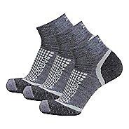 Zensah Grit Ankle Running 3 Pack Socks - Grey L