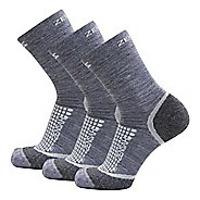 Zensah Grit Mini Crew Running 3 Pack Socks