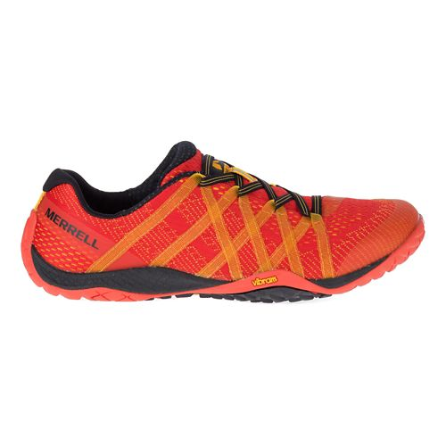 Mens Merrell Trail Glove 4 E-Mesh Trail Running Shoe - Saffron 10