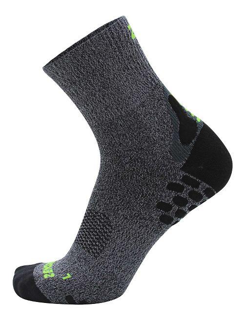 Zensah Traction Running Socks - Heather Grey L