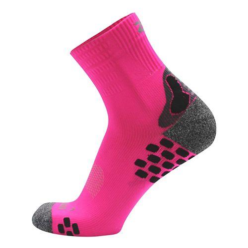 Zensah Traction Running Socks - Neon Pink L