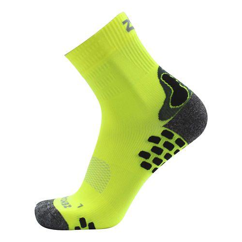 Zensah Traction Running Socks - Neon Yellow S