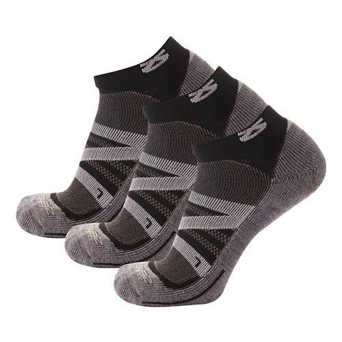 Zensah Wool Running 3 Pack Socks - Cloud Grey S