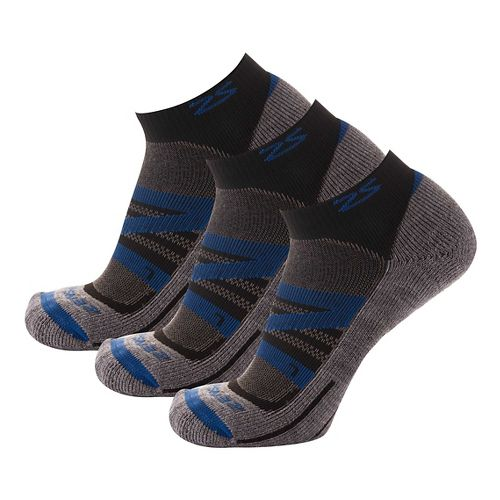 Zensah Wool Running 3 Pack Socks - Navy S