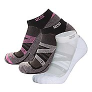 Zensah Wool Running 3 Pack Socks - Cloud/Pink/White L