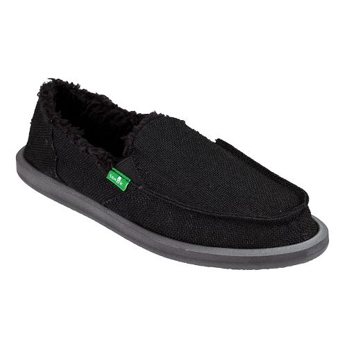 Womens Sanuk Donna Hemp Chill Casual Shoe - Black 7