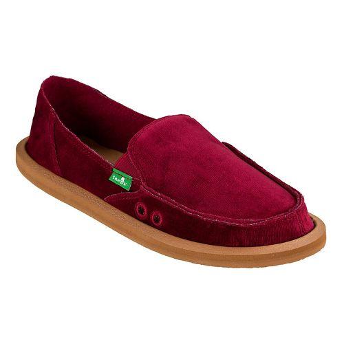 Womens Sanuk Donna Velvet Casual Shoe - Red 7