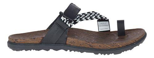 Womens Merrell Around Town Sunvue Thong Woven Sandals Shoe - Black 11