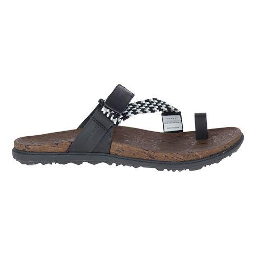 Womens Merrell Around Town Sunvue Thong Woven Sandals Shoe - Black 6