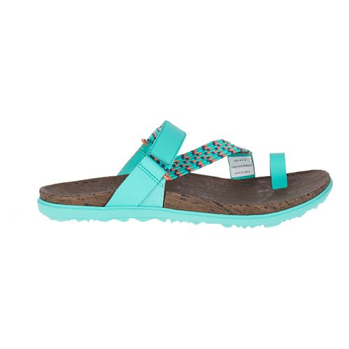 Womens Merrell Around Town Sunvue Thong Woven Sandals Shoe - Turquoise/Orange 9