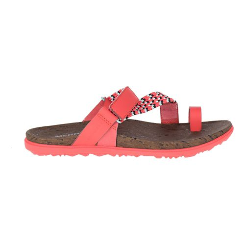 Womens Merrell Around Town Sunvue Thong Woven Sandals Shoe - Hot Coral 5