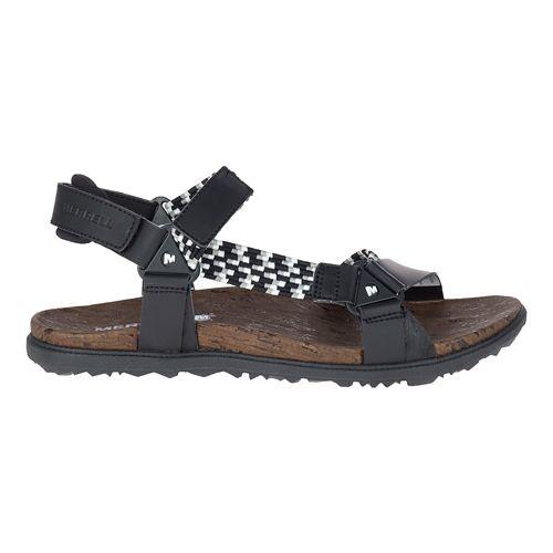Womens Merrell Around Town Sunvue Woven Sandals Shoe - Black 8