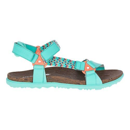 Womens Merrell Around Town Sunvue Woven Sandals Shoe - Turquoise/Orange 7