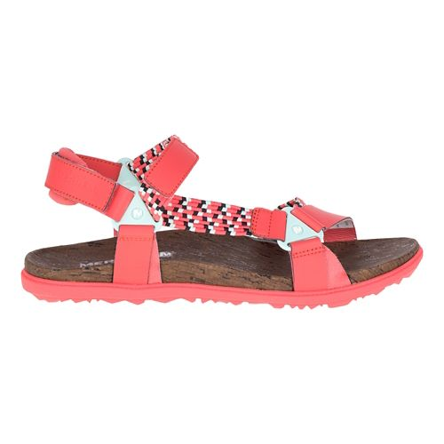 Womens Merrell Around Town Sunvue Woven Sandals Shoe - Hot Coral 10