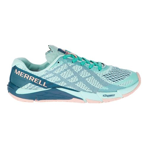Womens Merrell Bare Access Flex E-Mesh Running Shoe - Turquoise 6