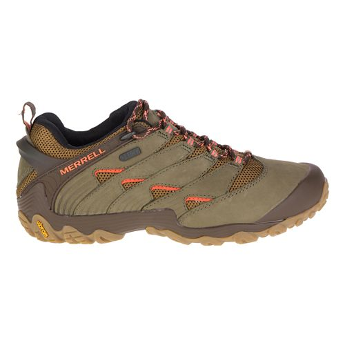 Womens Merrell Chameleon 7 Waterproof Hiking Shoe - Dusty Olive 11