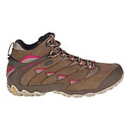 Womens Merrell Chameleon 7 Mid Waterproof Hiking Shoe - Merrell Stone 10