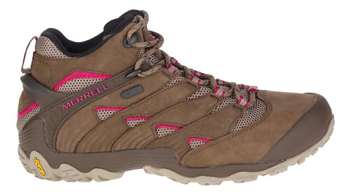 Womens Merrell Chameleon 7 Mid Waterproof Hiking Shoe - Merrell Stone 9