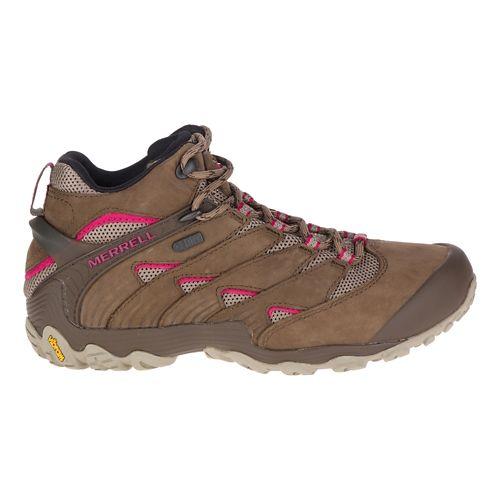 Womens Merrell Chameleon 7 Mid Waterproof Hiking Shoe - Merrell Stone 10