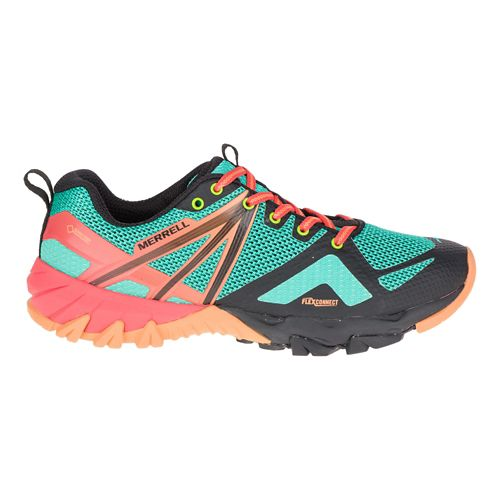 Womens Merrell MQM Flex GORE-TEX Hiking Shoe - Fruit Punch 5
