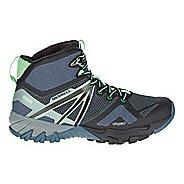 Womens Merrell MQM Flex Mid Waterproof Hiking Shoe - Grey/Black 11