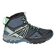 Womens Merrell MQM Flex Mid Waterproof Hiking Shoe - Grey/Black 8.5