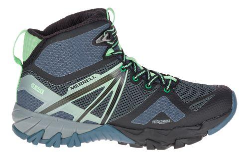 Womens Merrell MQM Flex Mid Waterproof Hiking Shoe - Grey/Black 10.5