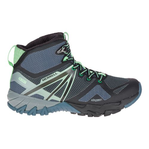 Womens Merrell MQM Flex Mid Waterproof Hiking Shoe - Grey/Black 10