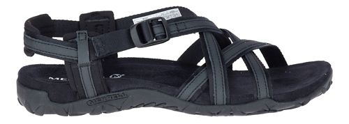 Womens Merrell Terran Ari Lattice Sandals Shoe - Black 5