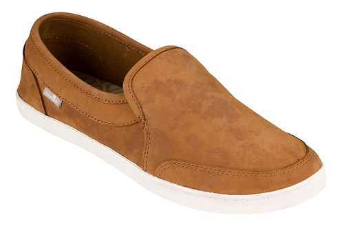 Womens Sanuk Pair O Dice Leather Casual Shoe - Tobacco Brown 9
