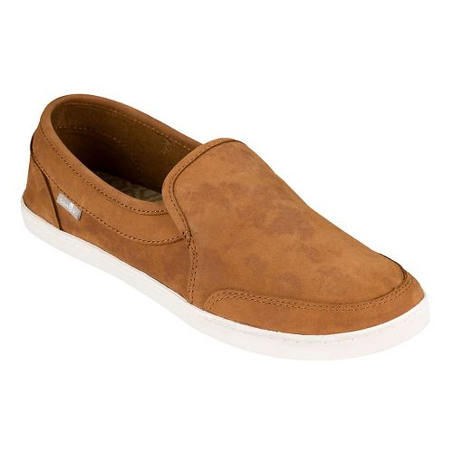 Womens Sanuk Pair O Dice Leather Casual Shoe - Tobacco Brown 8