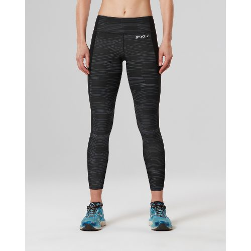 Womens 2XU Fitness 7/8 with Storage Compression Tights - Black/Charcoal XS