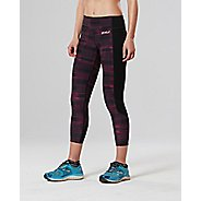 Womens 2XU Fitness 7/8 with Storage Compression Tights - Black/Pink M