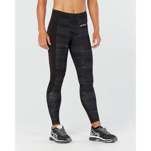Womens 2XU Fitness with Storage Compression Tights - Black/Charcoal XS