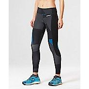 Womens 2XU Fitness with Storage Compression Tights - Black/Dark Char L