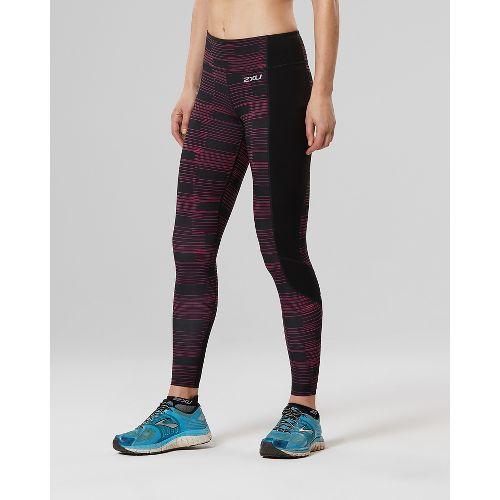 Womens 2XU Fitness with Storage Compression Tights - Black/Pink L