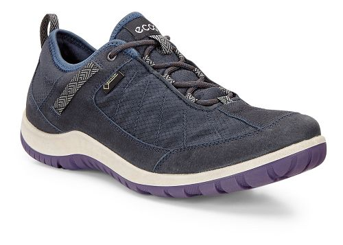 Womens Ecco Aspina Navy Textile GTX Casual Shoe - Navy/True Navy 38