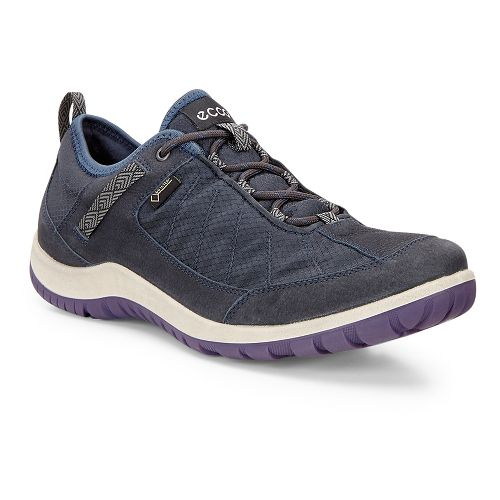 Womens Ecco Aspina Navy Textile GTX Casual Shoe - Navy/True Navy 40