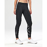 Womens 2XU Mid-Rise Print with Storage Compression Tights