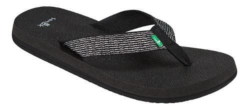 Womens Sanuk Yoga Mat Web-Bling Casual Shoe - Black/Silver 5
