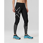 Womens 2XU Mid-Rise Reflect Compression Tights