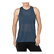 Womens ASICS Cool Sleeveless & Tank Technical Tops - Dark Blue S